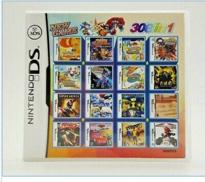 Video Game DS 3DS Cartridge Card Game Console 308 In 1 MULTI CART