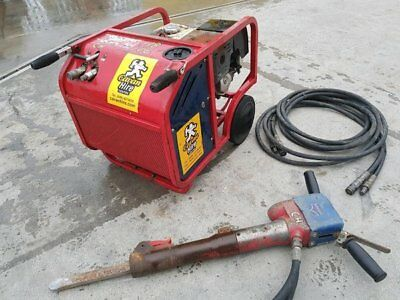 Hycon hydraulic power pack c/w hammer, Honda petrol engine