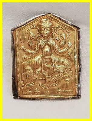 Hindu God Shiva Grand Tour Miniature Icon In 18Ct Gold And Silver,Circa 1880