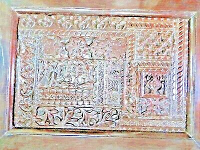 Carved WOOD  WALL DECOR frame PANEL SALVAGE Reclaimed ARCHITECTURE fragment