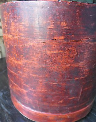Antique Burmese Cinnabar Lacquer Betel Nut Box  (Kun-It) Refurbished Period item