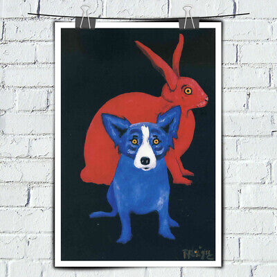 HD print canvas Blue Dog cartoon art painting home decor wall art picture 16X24