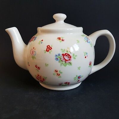 Cath Kidston Stanley 2pt Teapot by Churchil Fine China Floral Sprig Pattern :C8