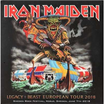 """IRON MAIDEN : """"Legacy of the beast at Sweden rock 2018"""" (Great !!) (RARE 2 CD)"""
