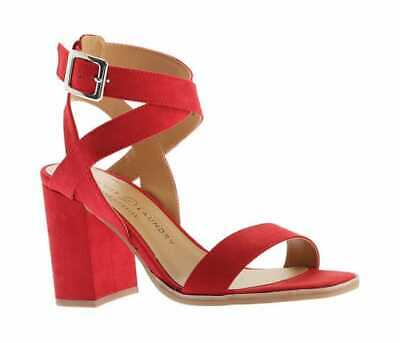 2f613c9d1469 Chinese Laundry Womens Stassi Ankle Strap Sandal Lollopop Red Microsuede  Sandals