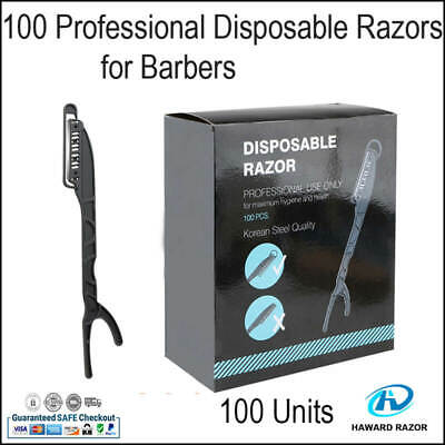 100 Disposable Razors Single Blade for Barber shop Use With CE Certification