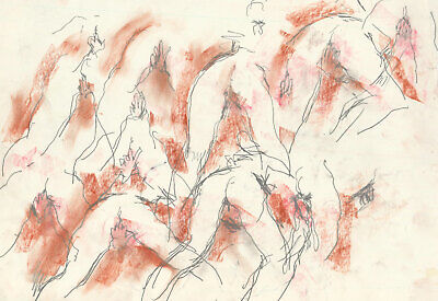 Peter Collins ARCA - c.1970s Graphite Drawing, Erotic Nude Study