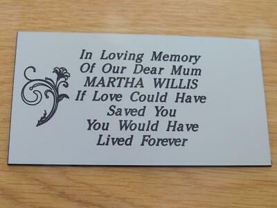 Personalised Engraved Memorial or Celebration Plaque Various Sizes.- LPT19