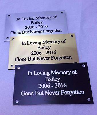 Pet Memorial Personalised engraved commemorative plaque Dog Cat Horse
