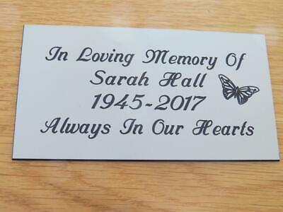 Personalised Engraved Memorial or Celebration Plaque Various Sizes.- LPT6