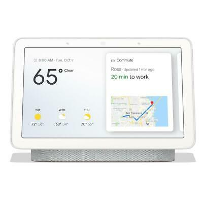"Google 7"" Touchscreen Nest Hub with Built-In Google Assistant, Chalk #GA00516-US"