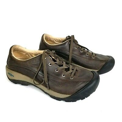 35f593f0c75 Keen Womens Toyah Walking Hiking Shoes Size US 9 Brown Oiled Leather Lace Up