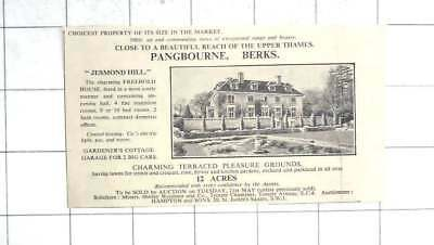 1935 Jesmond Hill, Pangbourne, Berkshire 10 Bedroom House On 12 Acres For Sale