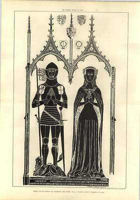 1905 Brass Rubbings Sir Simon De Felbrigg And Wife