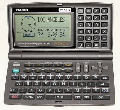 Vintage Casio SF-5790SY Business Organizer Scheduling System 256KB with PC Sync