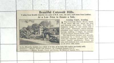1935 Avening Court,avening , Manor House 126 Acres For Sale
