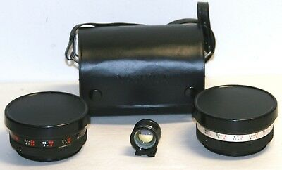 Yashica Auxiliary 58.4mm Telephoto Y911  37.7mm  Wide Angle Y910 Camera Lens Kit
