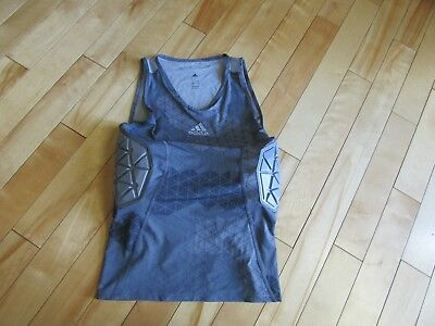 Adidas L Large Men's Techfit Padded Impact Tank Top Shirt Basketball Safety