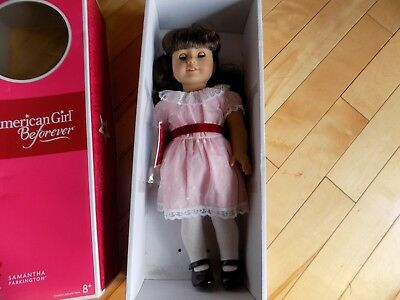 "American Girl 18"" Samantha Parkington Doll Brown Hair Eyes PINK DRESS Beforever"