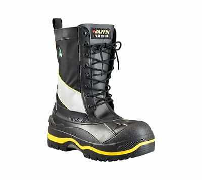 92ab9d1cc269 Baffin Men s Constructor Safety Toe and Plate Boot Black Hi-Viz Winter Boots