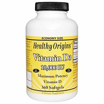 Healthy Origins Vitamin D3-10000 IU - 120 Softgels