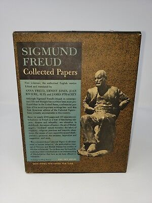1st edition Sigmund Freud: Collected Papers. 5-Volume Set, 1959 Slipcase