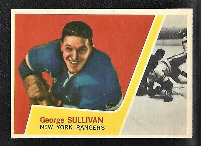 1963 Topps #44 George Sullivan Vintage New York Rangers NHL Hockey 1963-64