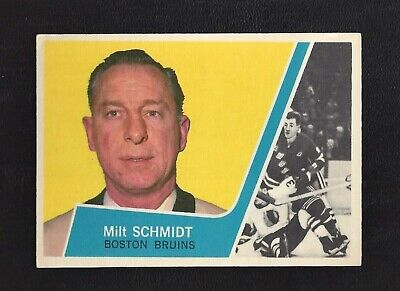1963 Topps #1 Milt Schmidt HOF Vintage Boston Bruins NHL Hockey 1963-64
