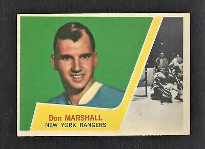 1963 Topps #59 Don Marshall Vintage New York Rangers NHL Hockey 1963-64