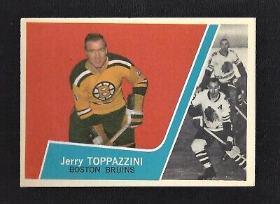 1963 Topps #18 Jerry Toppazzini Vintage Boston Bruins NHL Hockey 1963-64