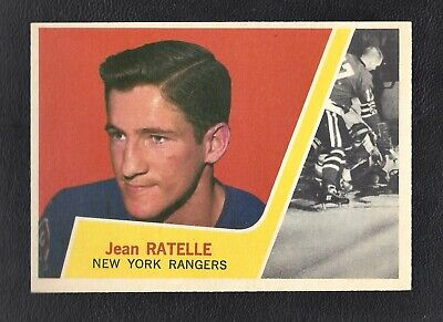 1963 Topps #63 Jean Ratelle HOF Vintage New York Rangers NHL Hockey 1963-64