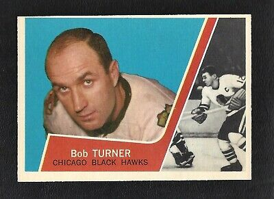 1963 Topps #32 Bob Turner Vintage Chicaho Black hawks NHL Hockey 1963-64