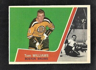 1963 Topps #12 Tom Williams Vintage Boston Bruins NHL Hockey 1963-64