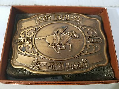 Historic Providence Bronze Pony Express Belt Buckle Orig.Box Cert Authenticity