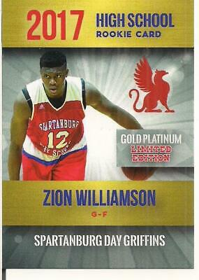 "Zion Williamson 2017 Rookie Phenom's ""Limited Edition"" Only 2000 Made On Fire!!!"