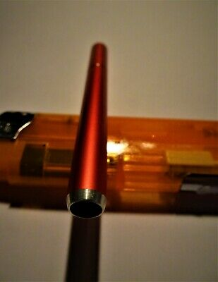 1~Metal Elegant Fancy Cigarette Style One-hitter 3in Dugout Bats RED COLOR
