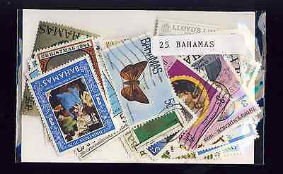 Bahamas 25 timbres différents