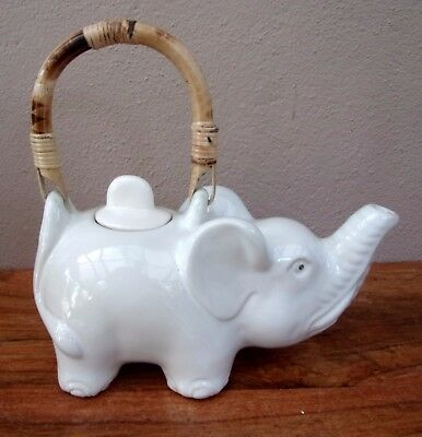 Unusual Hand Made Elephant Tea Pot Ethnic Elephant Decorative Tea Pot