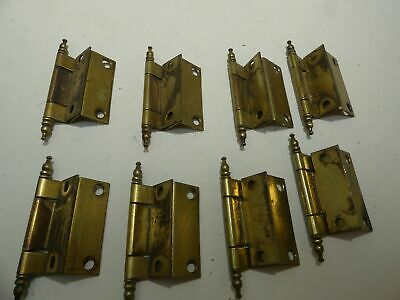 4 Pair of Vintage Furniture Cabinet Hinges Hardware Lot B