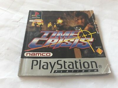 sony playstation 1 time crisis instruction manual booklet