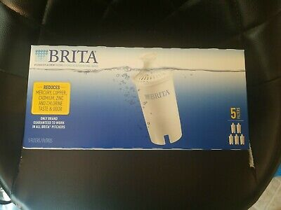 *NEW* Brita  Pitcher and Dispenser Replacement Filters 5-Pack SEALED