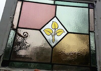Set of 5 Leaded Stained Glass Windows