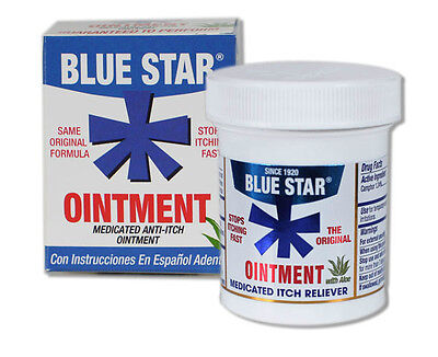 Blue Star Ointment For Treat Ringworm - 2 Oz (PACK OF 3 Jars)