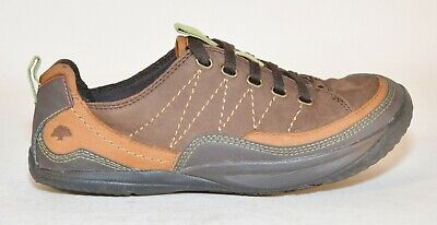 09e95e4b18 Kalso Earth Pace Negative Heel Brown Calf Leather Womens Lace Up Shoes Size  7B