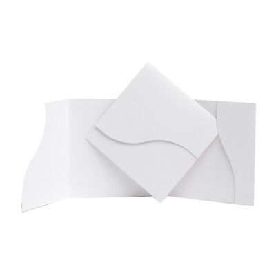 Pearl Pearlescent Pocketfold wedding cards with envelopes. DIY pocket