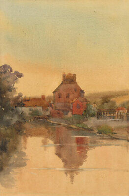 Fine Early 20th Century Watercolour - Canal at Dusk