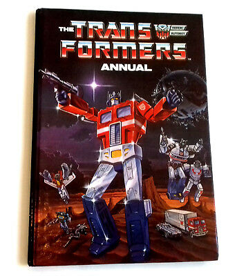 British UK TRANSFORMERS G1 Hardback Comic annual from late 80's