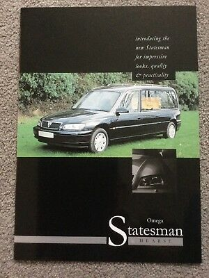 Vauxhall Omega Statesman Hurst  By Eagle Spicalist vehicles UK Market Brochure