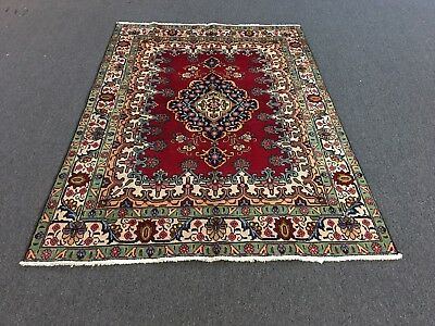 Vintage Persian Fine Hand Knotted Wool Kurdish Karabagh Rug 4'-10 X 10'-9 Antiques