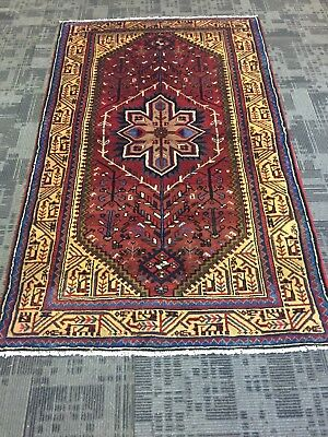 """On Sale Beautiful Hand Knotted Persian Geometric Area Rug Carpet 4x7,4'x6'7"""""""